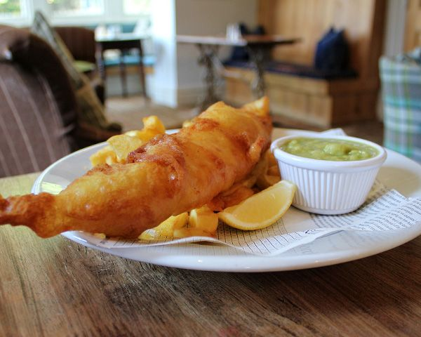 Our best pub fish and chips near Cartmel